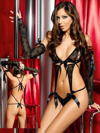 Satin Bow Front Teddy