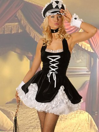 Bad French Maid Girl Fancy Dress