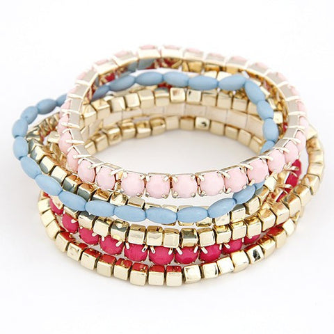 Colorful Bracelet - Pink