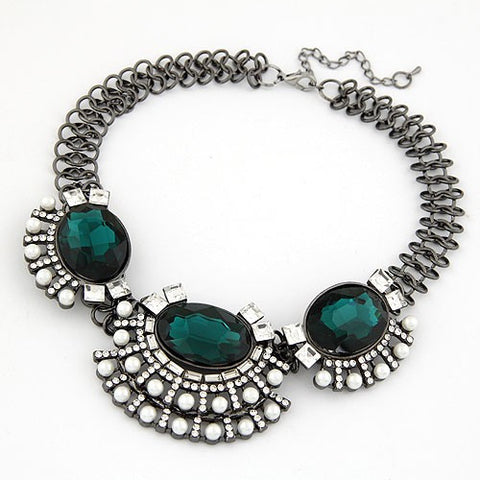 Emerald Gem Chunky Necklace