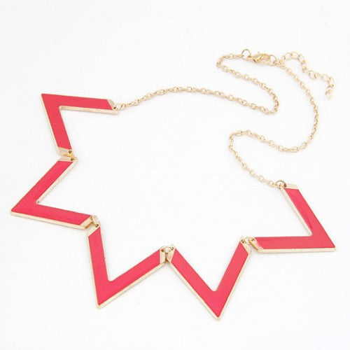 Angles Pendant Necklace - Pink