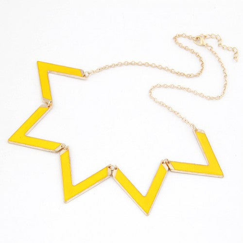 Angles Pendant Necklace - Yellow