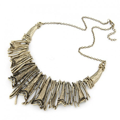 Vintage Hollow-out Exaggerated Necklace