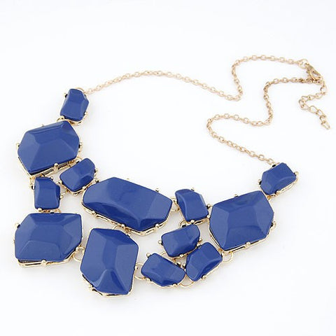 Assorted Geometric Necklace - Blue