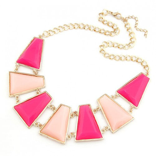 Charming Trapezoids Necklace - Rose