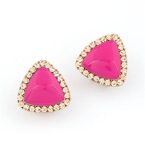 Sweet Fluorescent Delta Earrings