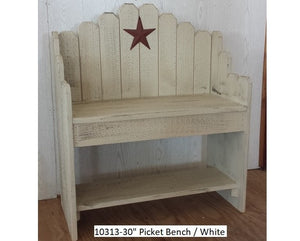 "30"" Picket Bench"