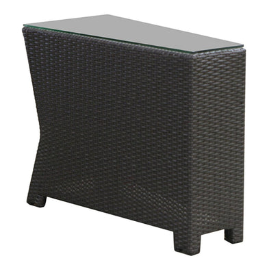Cabo - Wedge End Table w/ Glass