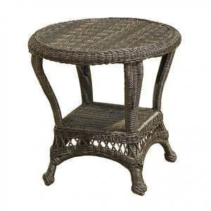 Charleston Round End Table w/ Glass