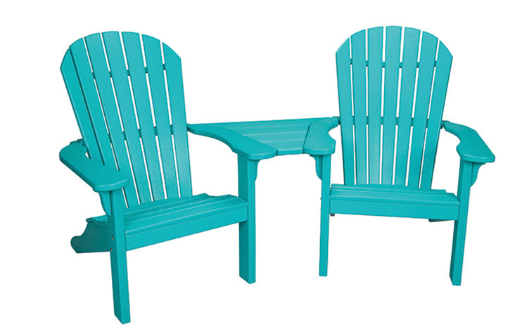 Oceanside Collection - Adirondack Settee with Slide in Table