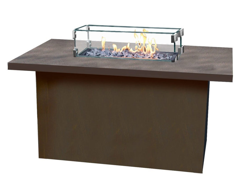 Rectangle Cal Sil Fire Table