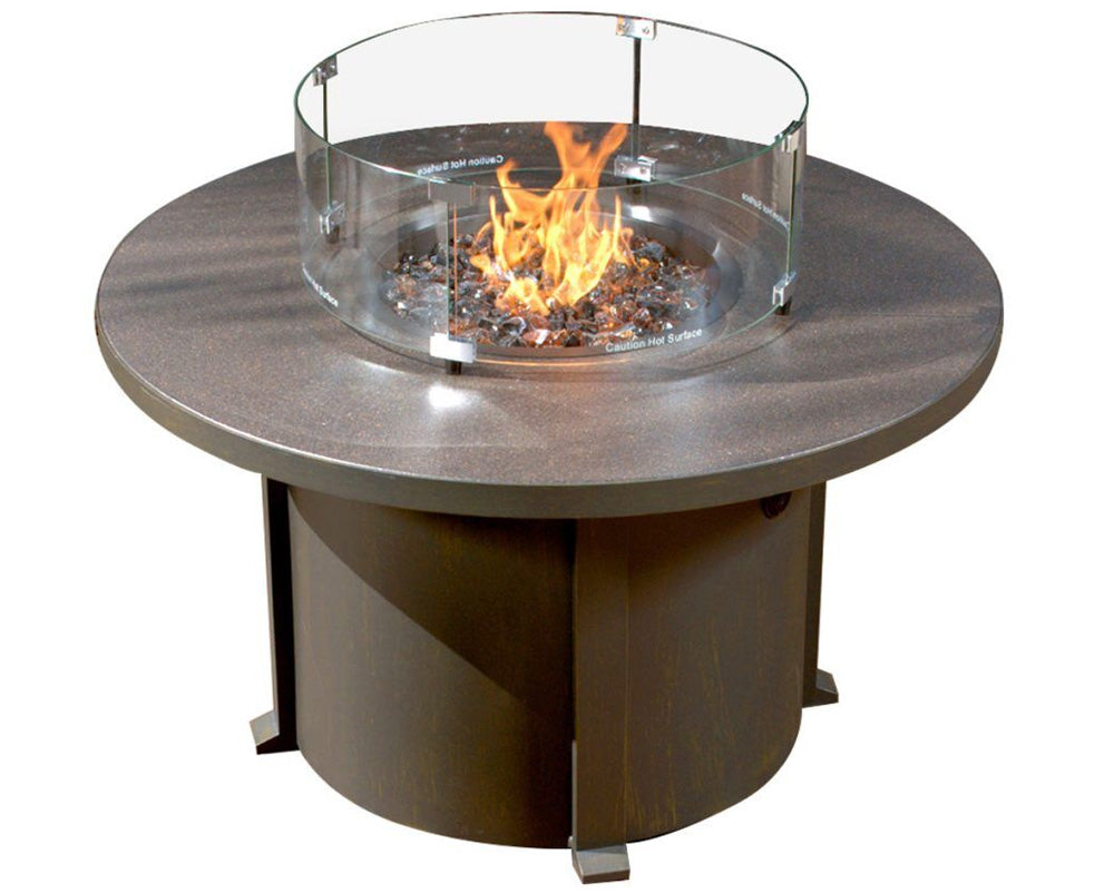 Round Cal Sil Fire Table