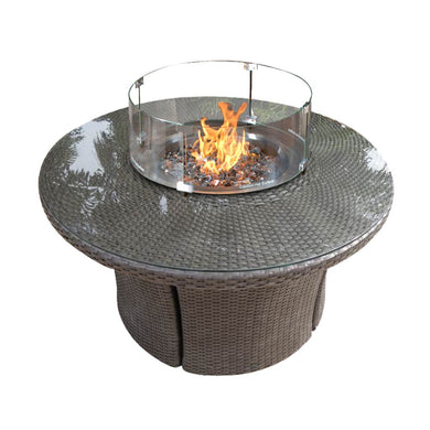 "42"" Woven Round Fire Table"