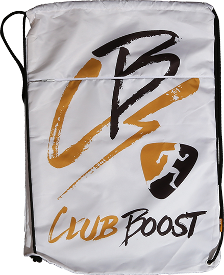 ClubBoost White and Gold GI Bag