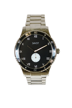 SAVOT Adventurer Black men's steel watch