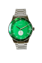 SAVOT Adventurer Green men's steel watch