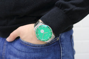 SAVOT Adventurer Green men's stainless steel watch
