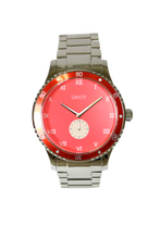 SAVOT Adventurer Red men's steel watch #giftsforhim #mysavot
