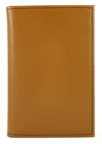 SAVOT Men's slim leather wallet cognac