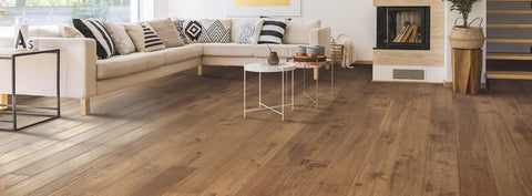 Mohawk Engineered Hardwood - Homestead Retreat Hickory Canyon Dusk Hickory