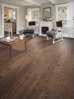 Mohawk Engineered Hardwood - Homestead Retreat Hickory Rust Hickory