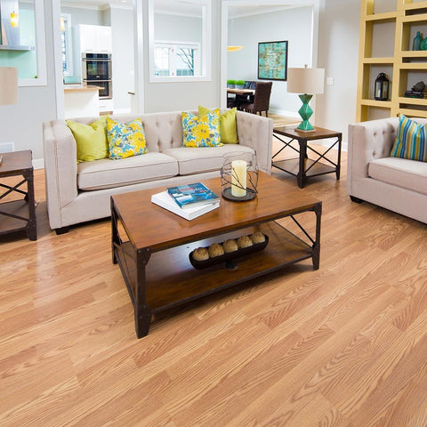 Natural Oak Laminate Click Lock Flooring