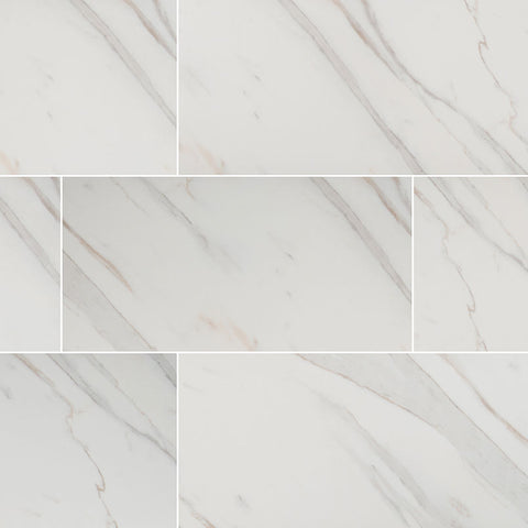Pietra Calacatta - MSI - 12x24 Polished Porcelain Tile