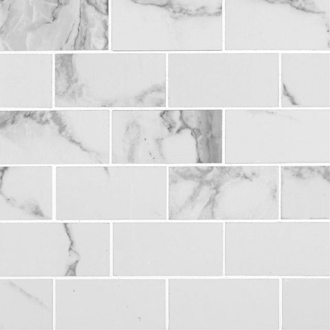 Pietra Statuario MSI 12x24 Polished Porcelain Tile