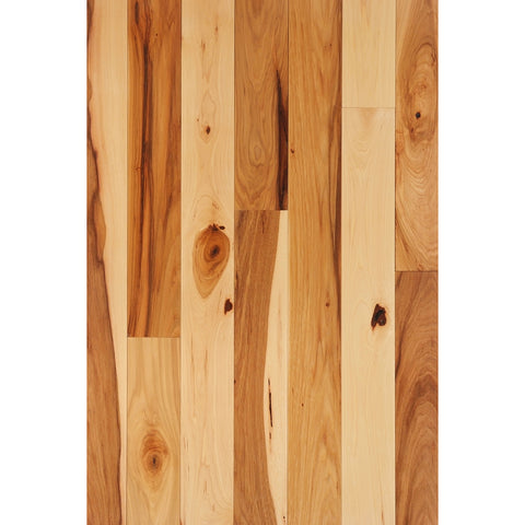 "FSD Solid Hardwood Flooring - Prefinished 3/4 x 3""  Character Grade Hickory"