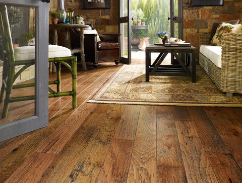 Shaw Epic Plus Rosedown Hickory Engineered Hardwood - Burnt Sugar