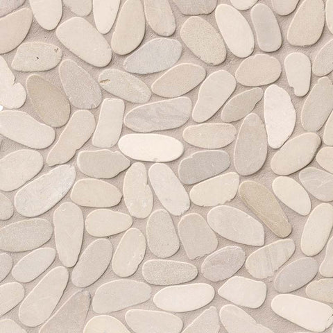 Sliced Pebble Earth 10mm - 12x12 Marble Mesh Mounted
