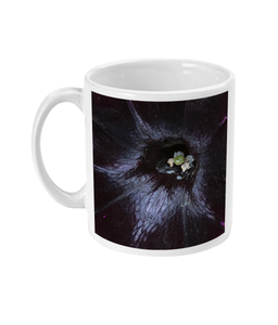 Dark Purple Double Flower Mug - Nature of Flowers