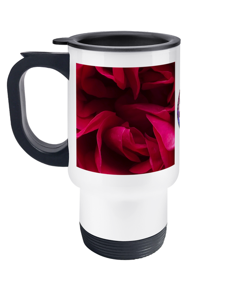 Red Flower Travel Mug
