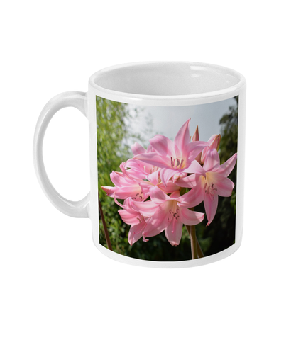 """Pink Lily"" Pink Double Flower Mug - Nature of Flowers"