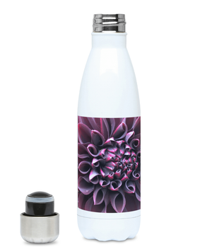"Open image in slideshow, ""Even in Darkness there is still light"" Purple Flower 500ml Water Bottle - Nature of Flowers"