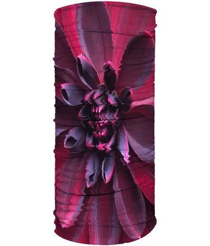 Red Purple Flower Neck Gaiter (Double Sided) - Nature of Flowers
