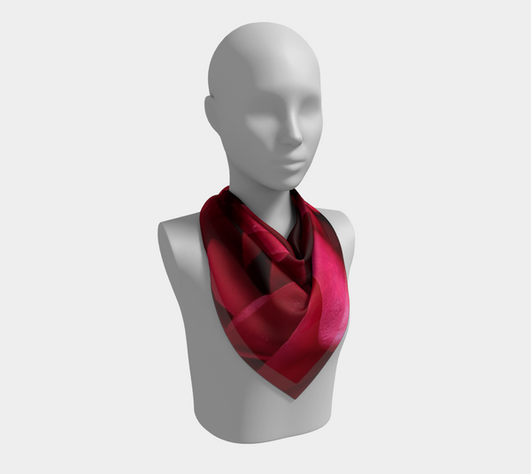 Red Rose Silk Scarf