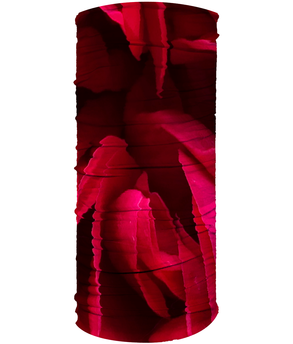 Red Flower Neck Gaiter (Double Sided) - Nature of Flowers