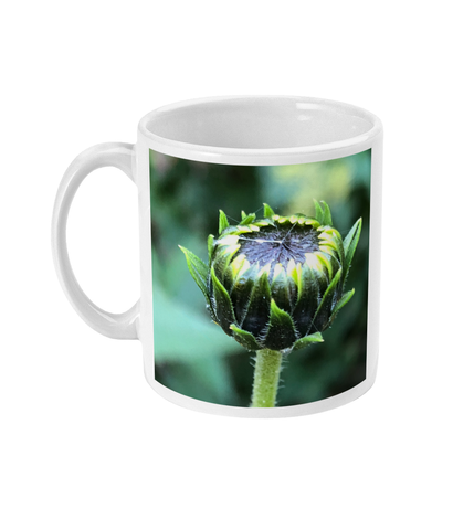 """The next flower waiting to happen"" Green Bud Double Flower Mug - Nature of Flowers"