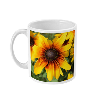 "Open image in slideshow, ""Bursting with colour"" Yellow Double Flower Mug - Nature of Flowers"