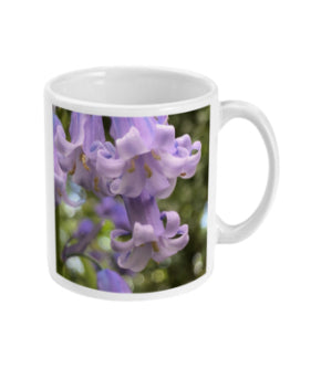 """Working Together"" Blue Bell Double Flower Mug - Nature of Flowers"