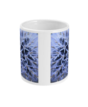 """The Blue Maze Circle"" Blue Double Flower Mug - Nature of Flowers"