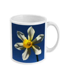 """Find your Peace"" Yellow Daffodil Double Flower Mug - Nature of Flowers"