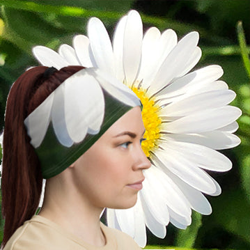 Daisy Flower Neck Gaiter - Nature of Flowers