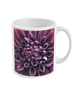 """Even in Darkness there is still light"" Purple Dahlia Double Flower Mug - Nature of Flowers"