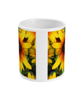 """Bursting with colour"" Yellow Double Flower Mug - Nature of Flowers"