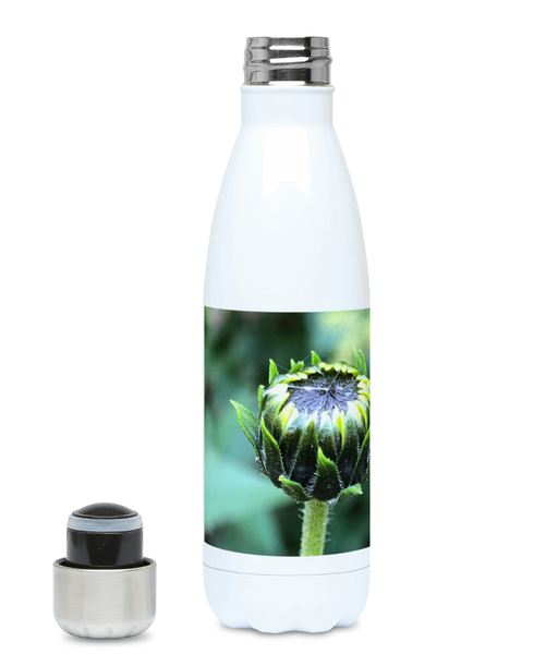 """The next flower waiting to happen"" Green Flower 500ml Water Bottle - Nature of Flowers"