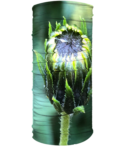 Green Bud Flower Neck Gaiter (Double Sided) - Nature of Flowers