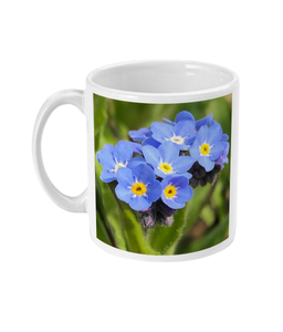 Blue Forget Me Not 2 Double Flower Mug - Nature of Flowers