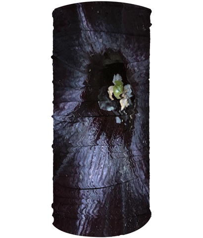 Dark Purple Flower Neck Gaiter (Double Sided) - Nature of Flowers
